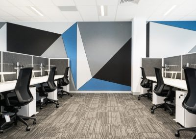 Open Plan Office & Acoustic Wall Panelling