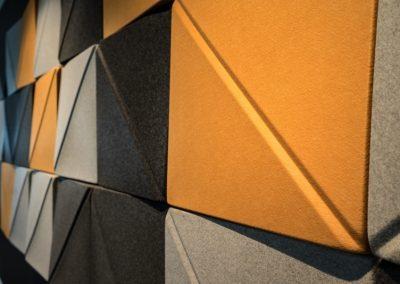 3D Acoustic Wall TIles