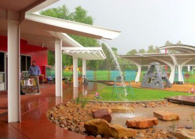 Braitling Preschool in wet