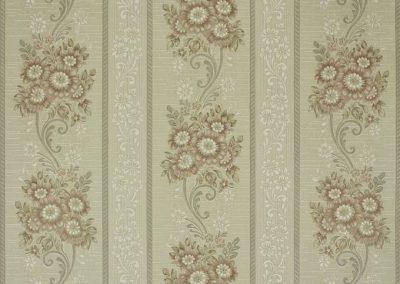1940's Floral Stripe