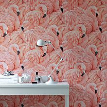 Vibrant Flamingo Wallpaper wallpaperdirect.com