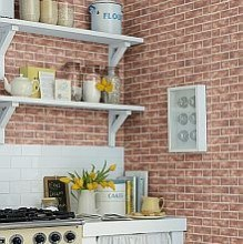 Kitchen Wallpaper Brick wallpaperdirect.com