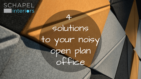 4 solutions to your noisy open plan office